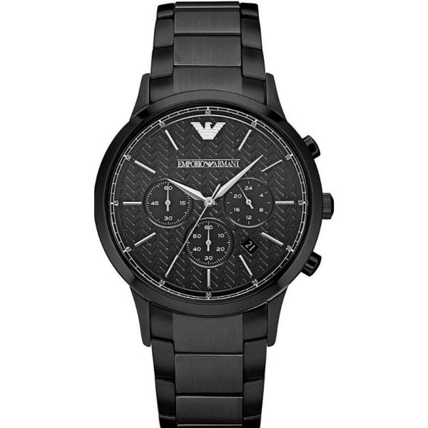 ThisEmporio Armani Men's Watch AR2485 has black links with a black stainless steel bracelet strap. Stylish and in fashion for any man.