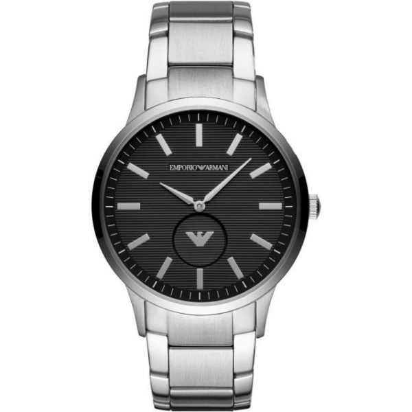Emporio Armani Men's Watch AR11118 has silver links with stainless steel bracelet strap and black dial. Stylish and in fashion for any man.