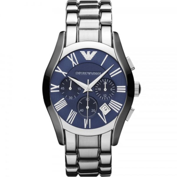 This Emporio Armani Men's Watch AR1635 has a silver stainless steel bracelet strap, blue dial, and silver hands. Stylish and in fashion for any man that wants this watch to add to their collection.