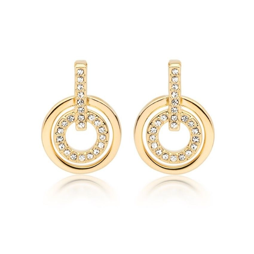 Concentric Circle Earrings set in Gold-Tone is perfect set of earrings and is a must-have. Shop jewellery and watches.